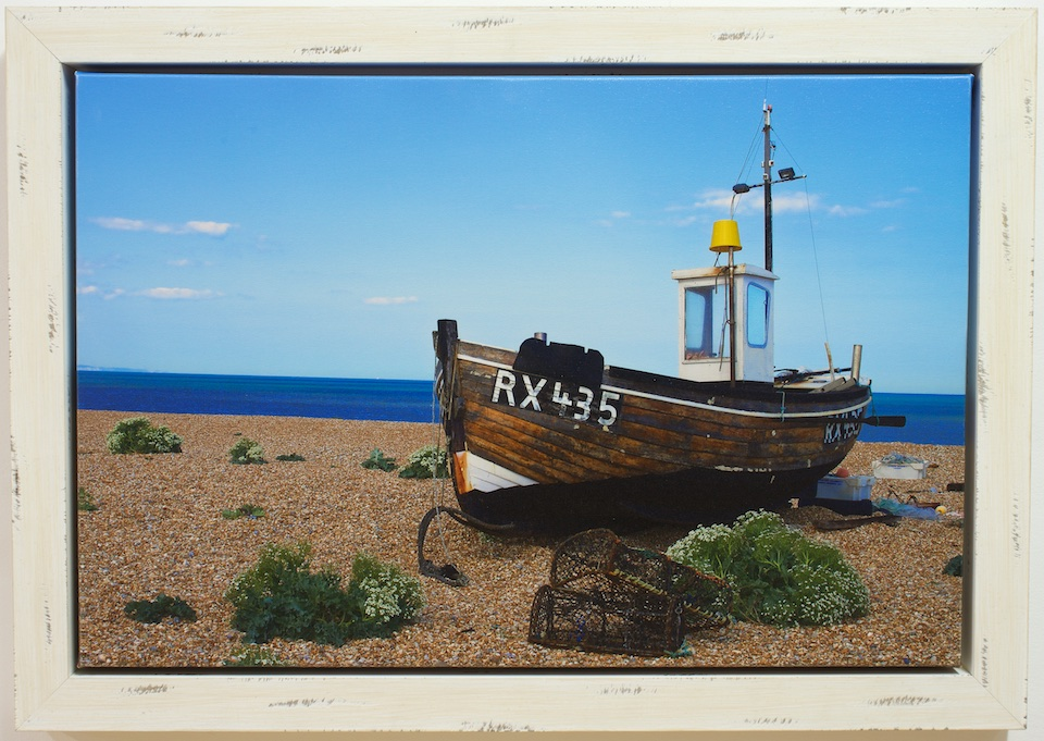 Beached Boat Boxed Canvas