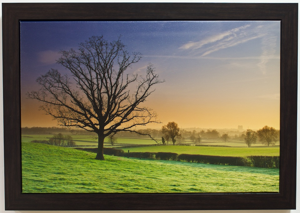 Sunrise Over Aylesbury Boxed Canvas