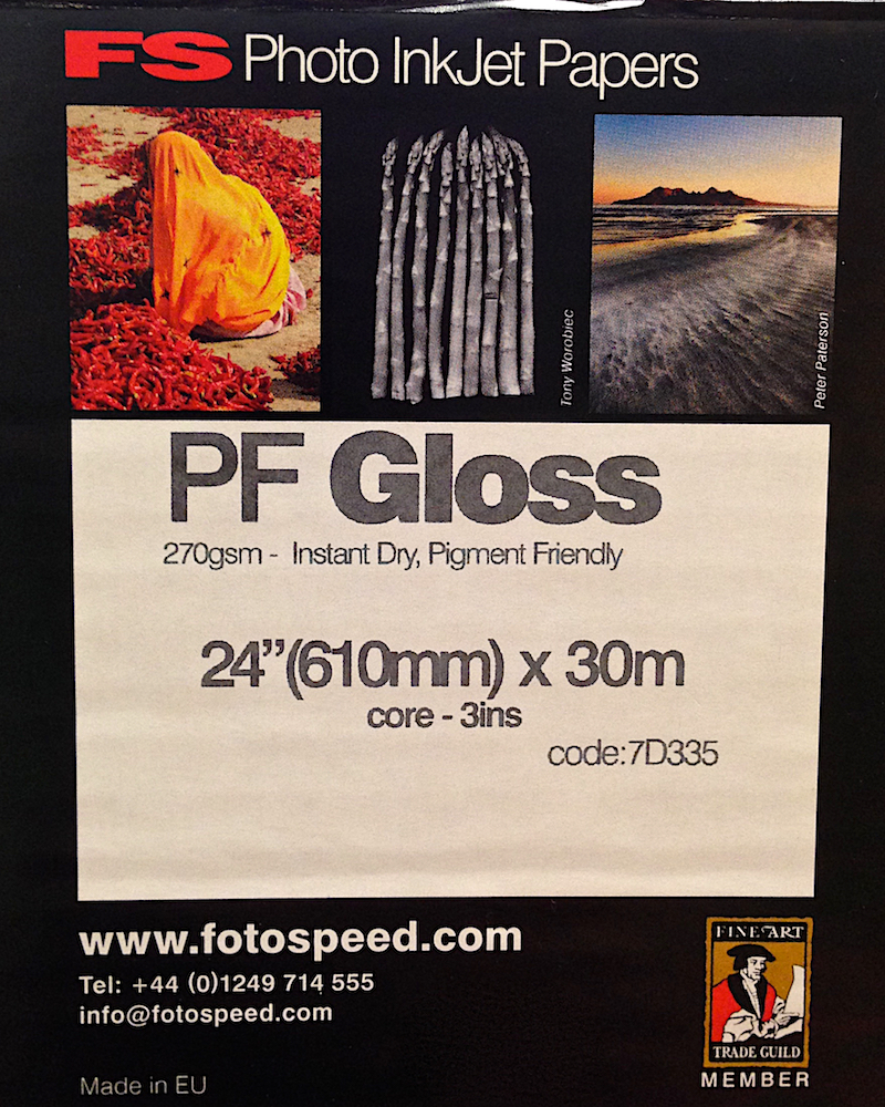Fotospeed PF Gloss Paper Label