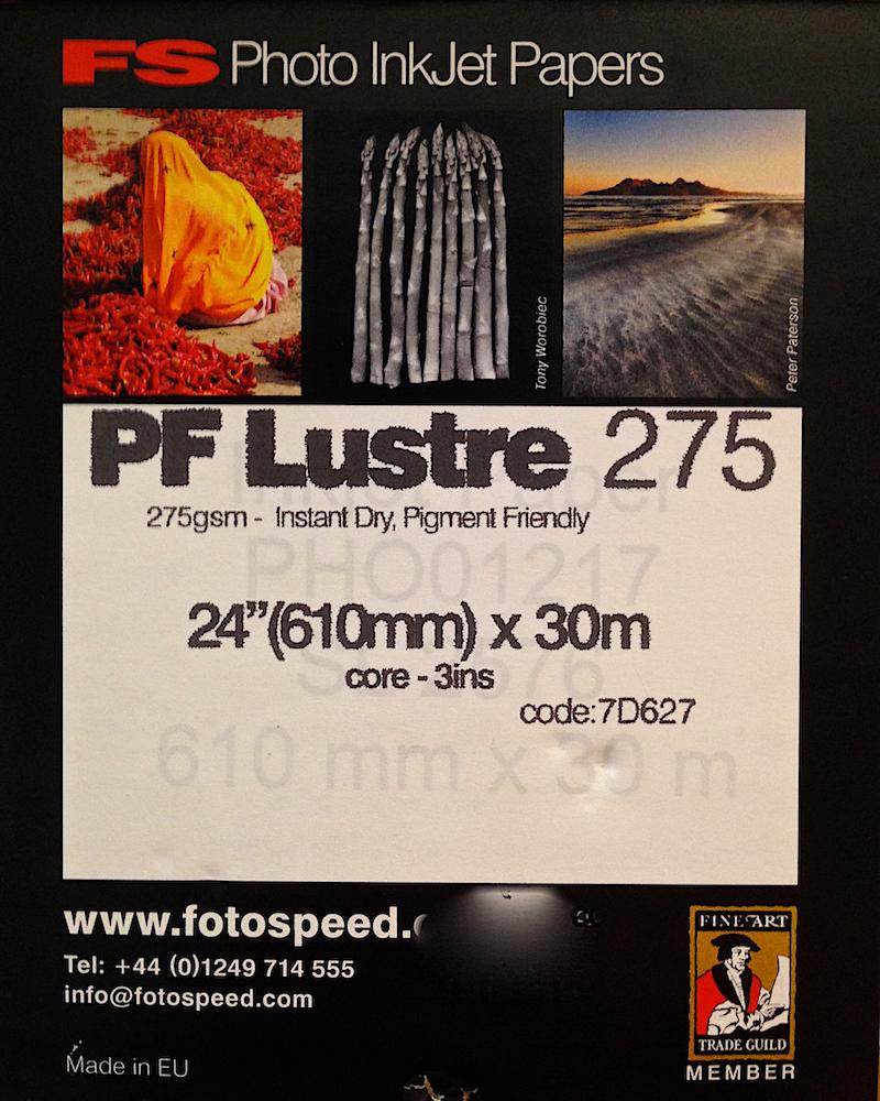 Fotospeed PF Lustre Paper Label